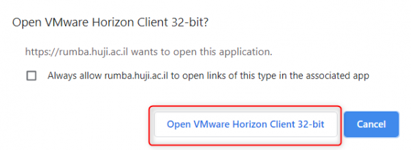 Allow vmware client
