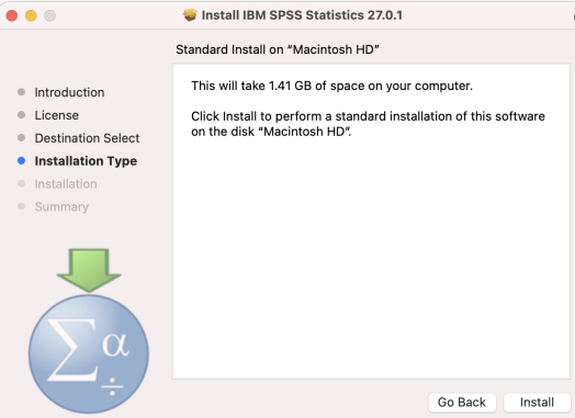 Install IBM Spss 27.01