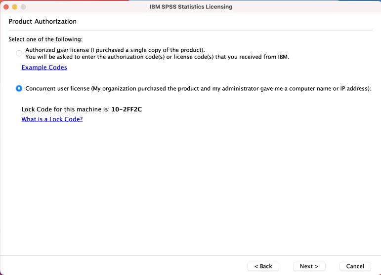 Enter network server address